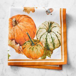 Set of 4-Heirloom Pumpkin Dinner Napkins